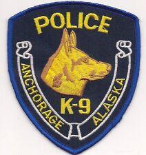 ALASKA: ANCHORAGE Police K-9 Aufnäher Patch Abzeichen Polizei DHF Hundeführer
