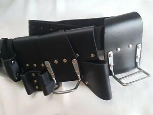 Scaffold-Leather-Tool-Belt-Steel-Hammer-amp-Cutter-Plier-Holder-Professional-6in1