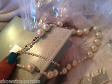 Virgin Vie necklace pearl fresh water silver plate LOVELY BRIDE BRIDAL WEDDING