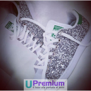 100 Brillantini Verde Smith Originali 201 Stan Adidas ® Scarpe Argentate Italia nqwCwB1F