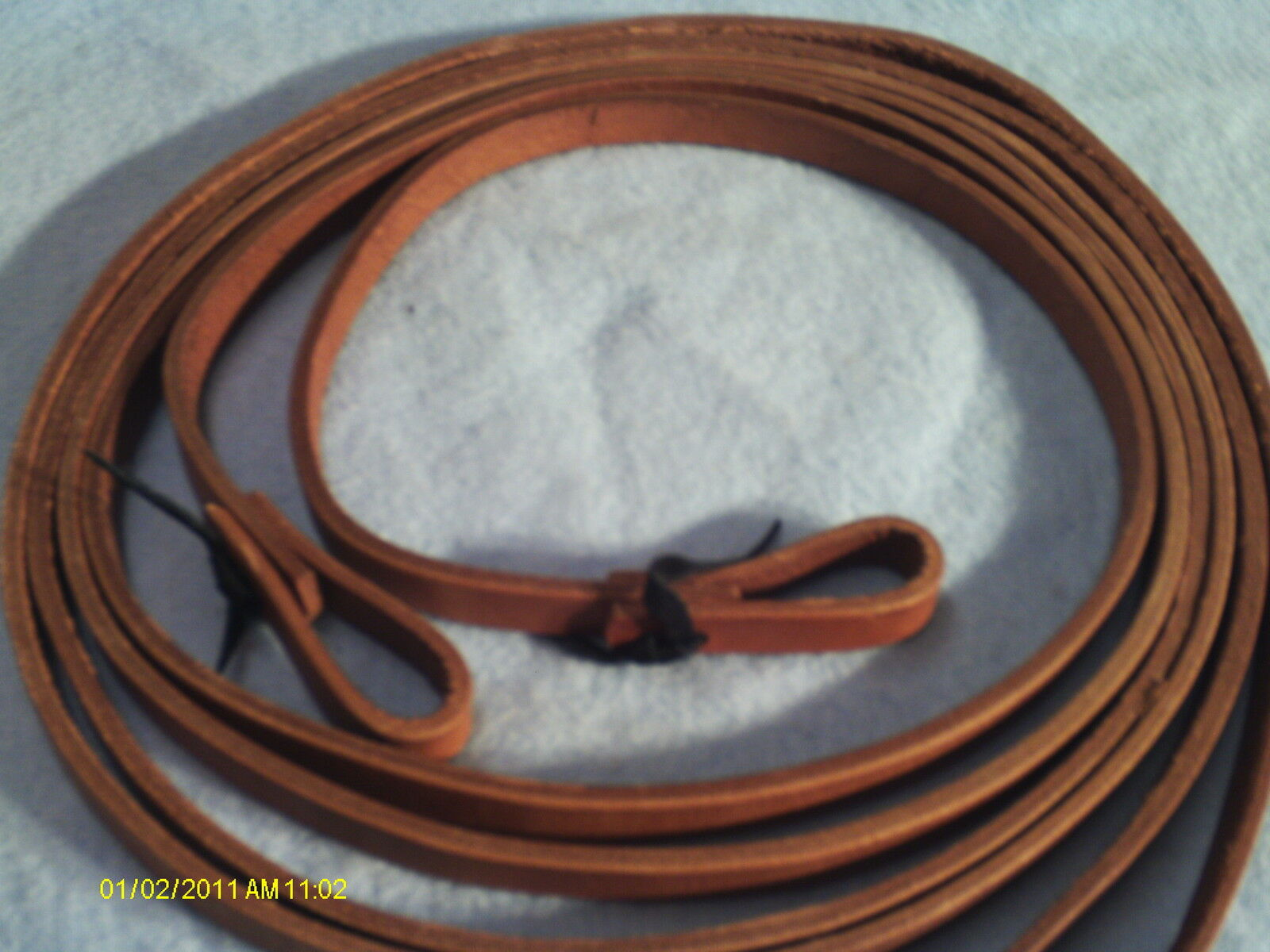Reins Made in USA Don Porath Harness Leather 1 2  Split