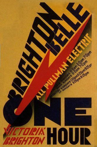1930/'s Southern Railways Brighton Belle Railway  Poster  A2 Reprint