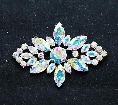 Aurora Rhinestone Crystal Wedding Bridal Vintage Style Brooch Pin Jewelry