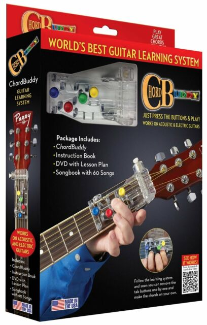 Chord Buddy 139936 Learning Guitar System Tool DVD Instruction Book ...