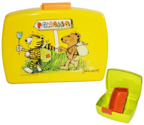 """gelb mit extra Einsatz Brotdose /"""" Janosch /"""" Brotbüchse Küche Essen Tigeren"""