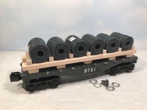O SCALE load for Lionel K-Line Atlas bulkhead gondola flat cars blacksteel O6B