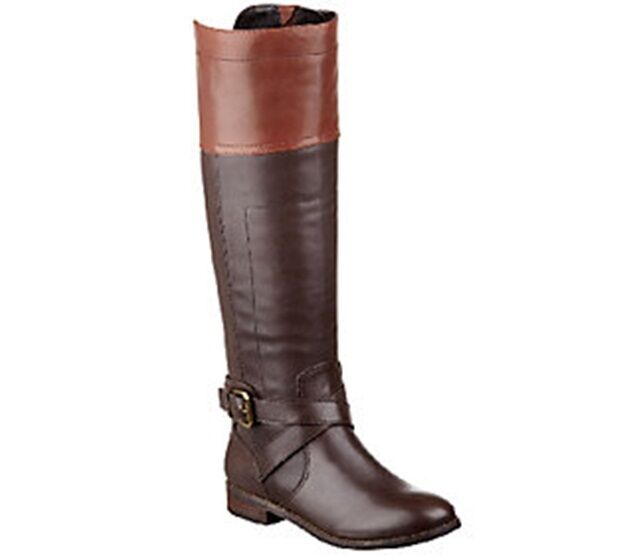 Marc Fisher Leather Riding Boots - Anlosa wide calf pick size color new