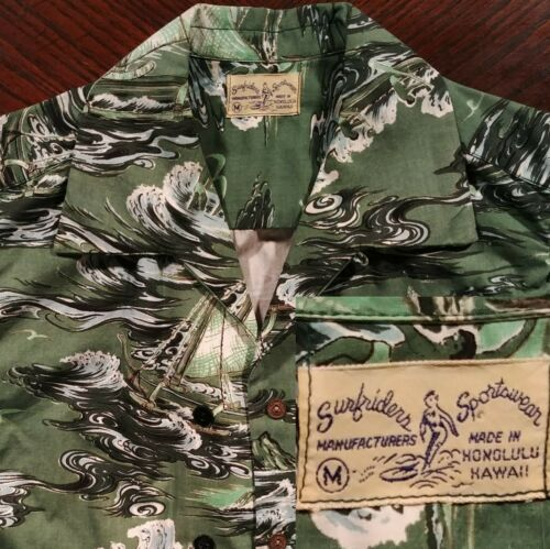 Rare Vtg Surfriders Sportswear USA Made 1940-1950s