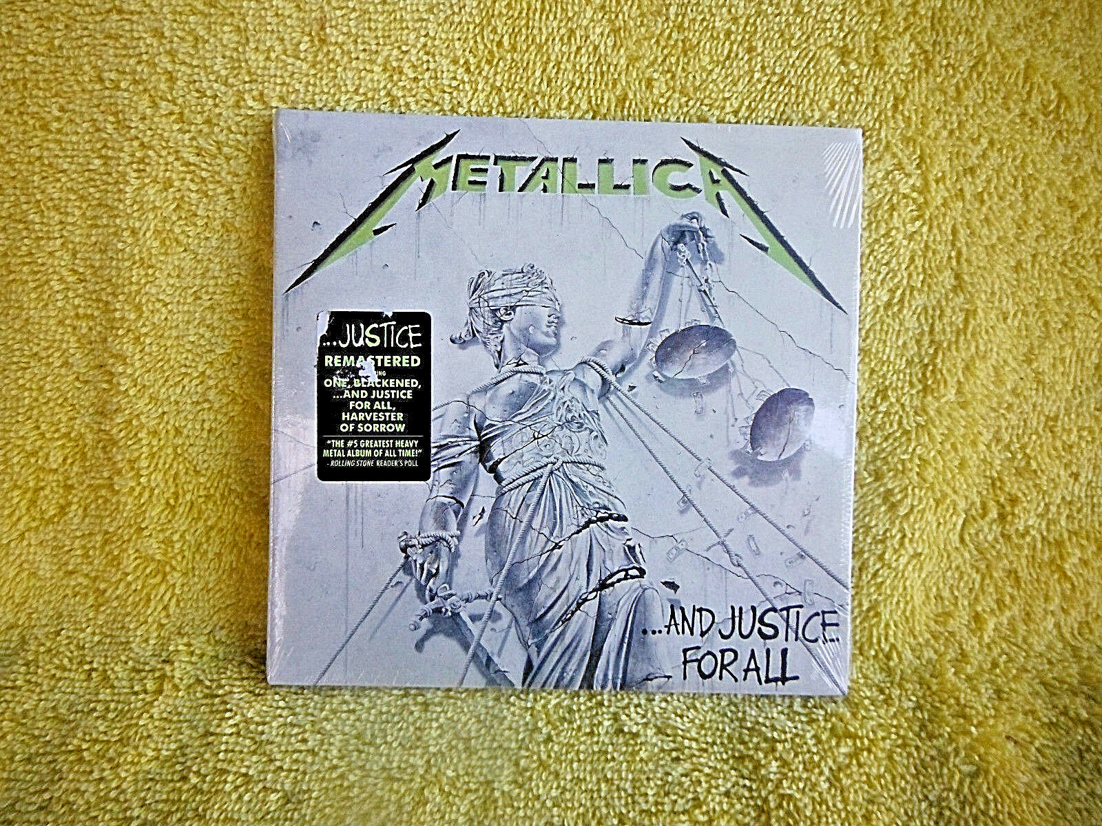 Brand New Sealed Cd Metallica And Justice For All Remastered