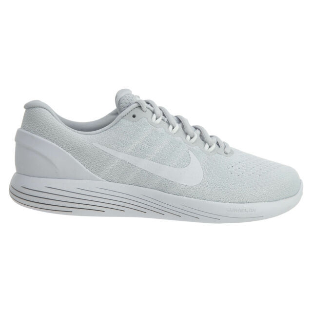 3cb580b79f1cb Frequently bought together. Nike Lunarglide 9 Mens 904715-003 Platinum  White Knit Running Shoes ...