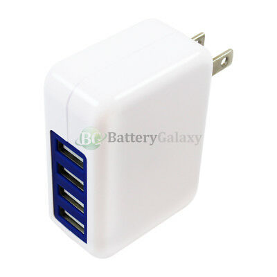 100X Fast 4 Port Wall Charger 3.1 Amp for Apple iPad 1 2 3 4 5 Air Mini Pro