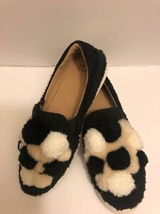 94e2c7c9166 Details about Ugg Australia Women's Ricci Pom,Pom Faux Fur Slip On Shoes  Black Size 7 New.