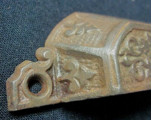 """Holes=3-1//16/"""" 1 Antique 1870s Cast Iron Window Sash Lift Cup Drawer Pull Handle"""