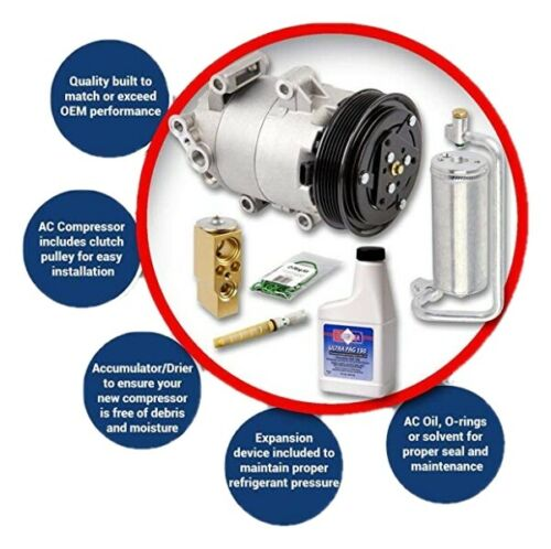 3.8L only New A//C AC Compressor Kit For 2004-2005 Chevy Impala Monte Carlo