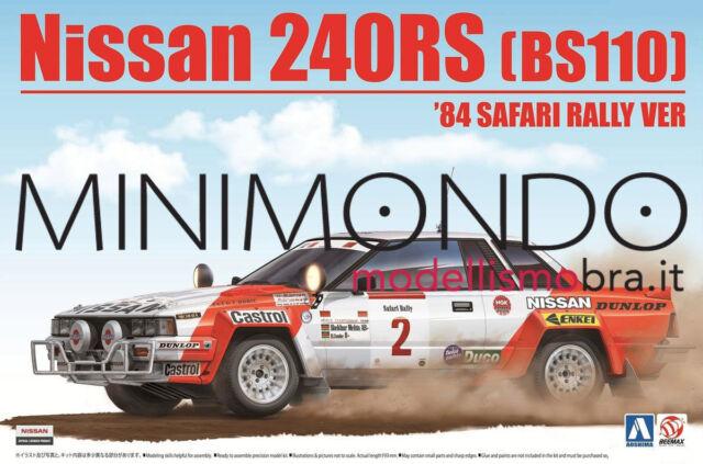 KIT NISSAN 240RS BS110 RALLY SAFARI 1984 1/24 AOSHIMA 24014 BEEMAX 240 RS