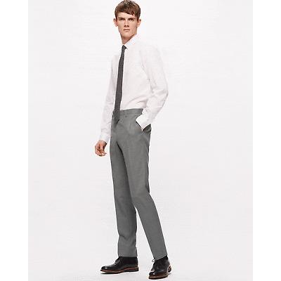 Jigsaw Bloomsbury Italian Slim Fit Suit Trousers Mens New Grey Grey Melange