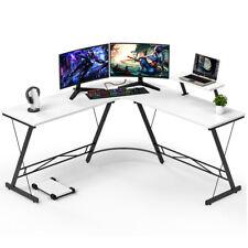 L Shaped Home Office Desk Computer Laptop Table Study Corner Desk Workstation
