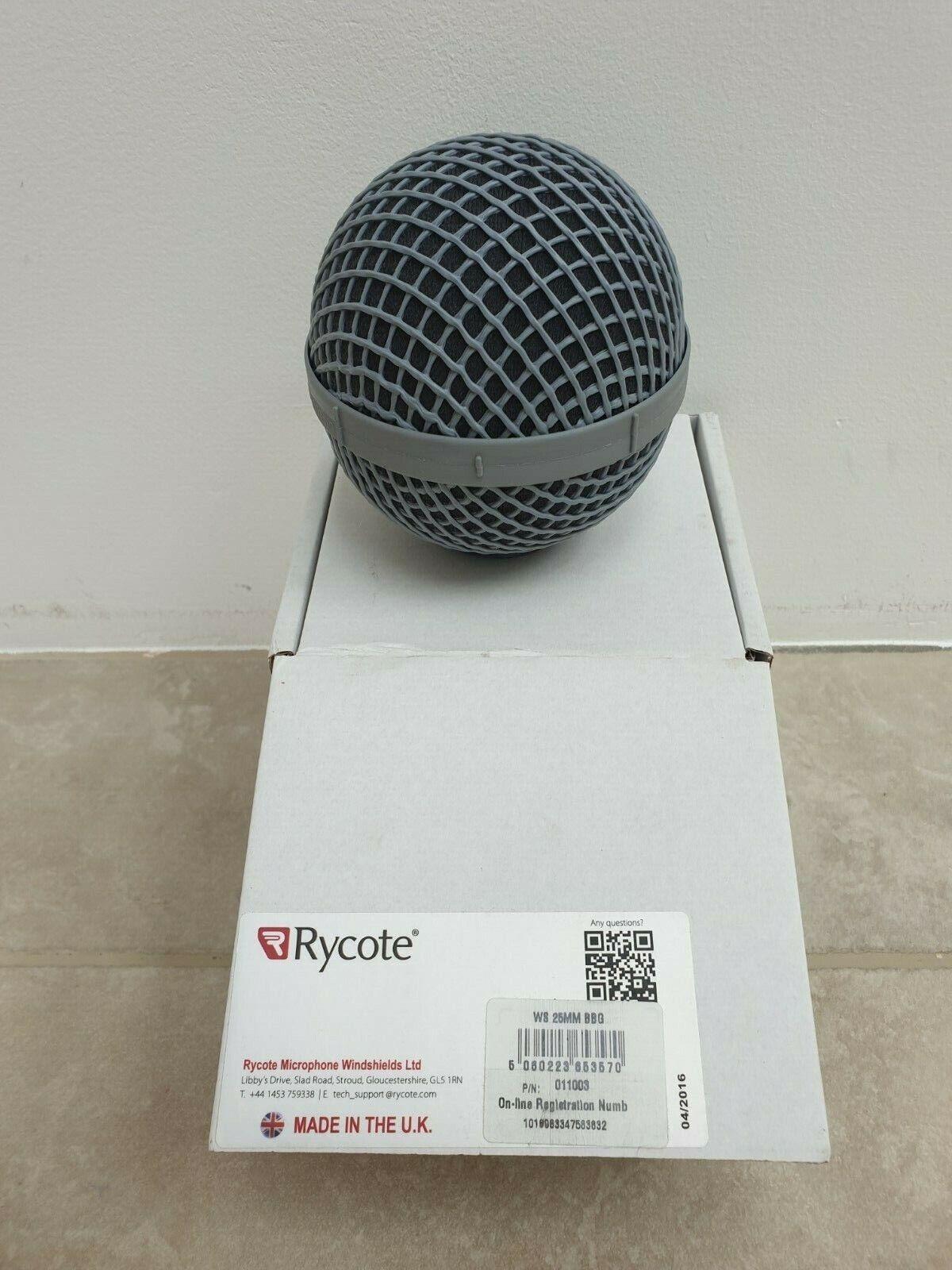 Rycote 25mm BBG Windshield sn  011003 Ball Type Brand NEW