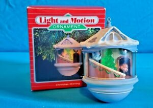 1987-Hallmark-Keepsake-Ornament-Christmas-Morning-Magic-Light-amp-Motion-MIB