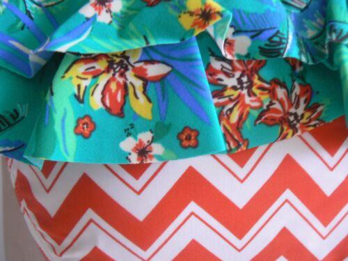 Resort Bikini Briefs// Bottoms Back Frill UK Size 6 8 12 14 16 18 20