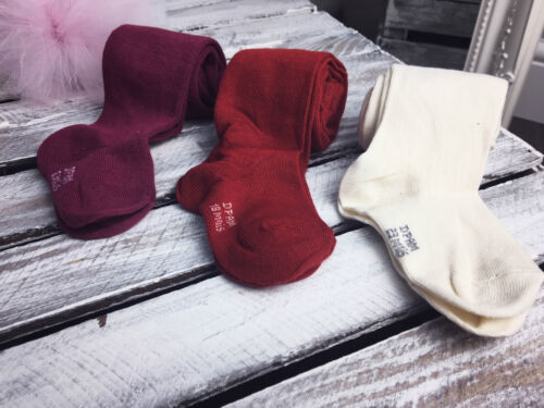 Rose or Beige or Red Kids  Baby Tights in NICE 3 Colours