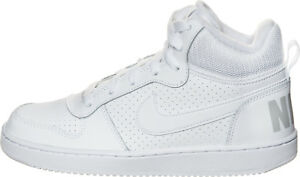 Zapatos NIKE Court Borough Mid (GS) 839977 100 WhiteWhiteWhite