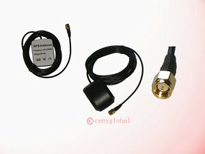 GPS-Active-Remote-Antenna-SMA-M-Male-connector-3M-NEW