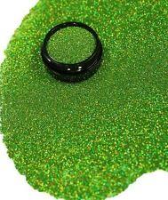 3ml Glitter 0,2mm, Hell Grün Hologramm, Puder in Acryl Dose, Nr. 801-074-a