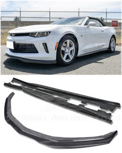 Details about EOS T6 Style CARBON FIBER Front Lip Splitter W/ Side Skirts  For 16-18 Camaro RS