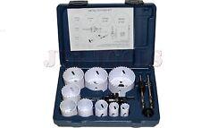"New PRO 13pc 3/4""-2 1/2"" Bi Metal Hole Saw & Arbor Kit Set Plumbers Electrician"