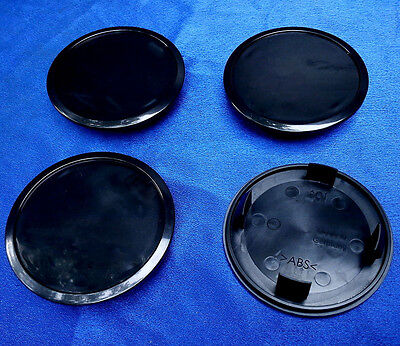 2 x Nabenkappen Nabendeckel Felgendeckel 68,5-55,5 mm A01 schwarz