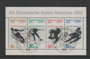Germany (West) - 1971, Olympic Games (1972) sheet - F/U - SG MS1593