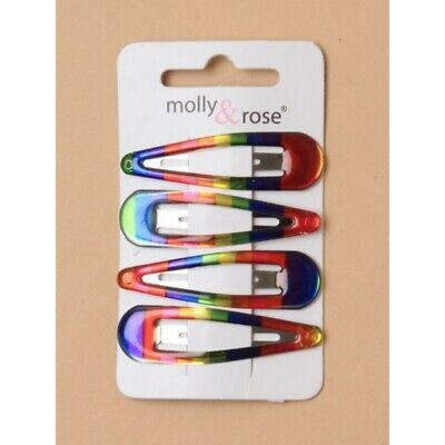 6 x Hair snap clips bendies sleepies slides 4.5cm sleepies school colours,choice