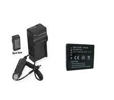 Battery + Charger Panasonic DMC-FT3A DMC-FT3D DMC-FT3R