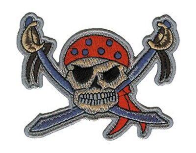 Delicioso Generic Rock Pirate Patch Toppa Swords Textura Clara