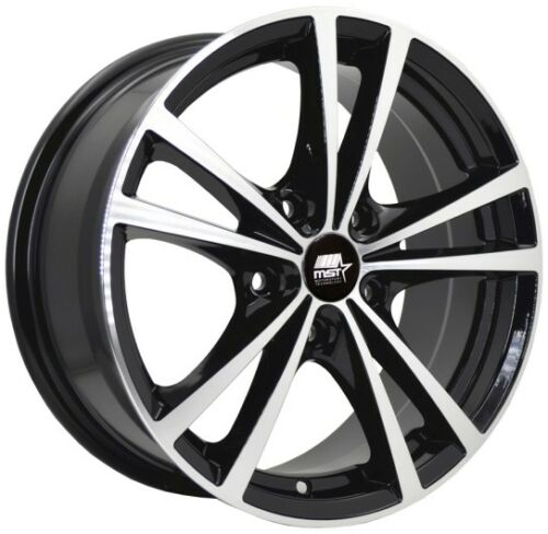 One 15x6.5 MST Saber 4x100 ET45 Glossy Black w//Machined Face Wheel