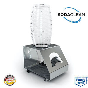 Soda Clean ® 1er supporto bottiglie in acciaio inox per SODASTREAM duo Crystal bottiglie