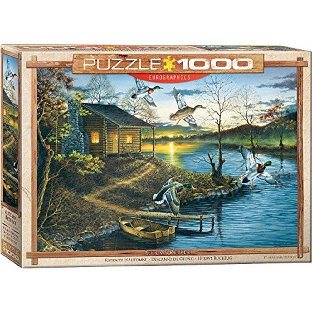 Eurographics Puzzle 1000pc -abraham Hunter Autumn Retreat - Jigsaw Abraham New