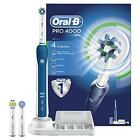 Oral-B Pro 4000 3D CrossAction Electric Rechargeable Braun Toothbrush