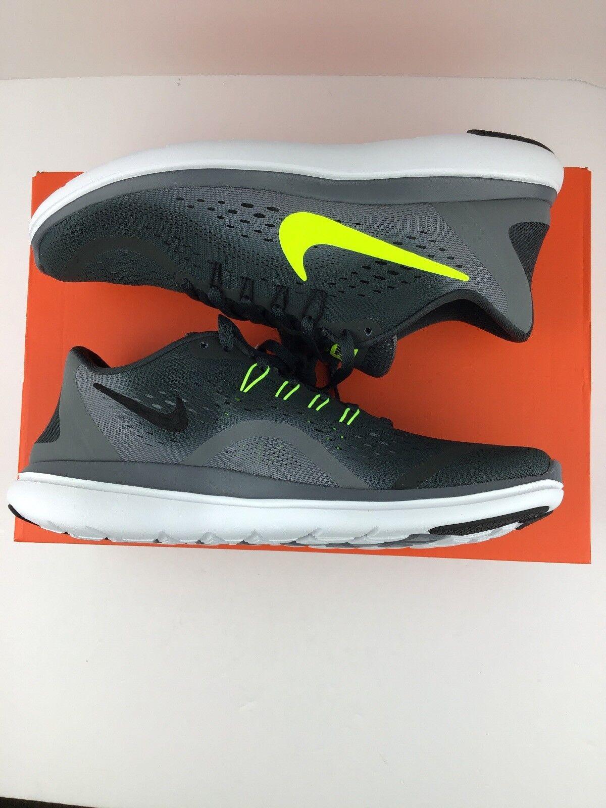 586809a64e03 Nike Flex 2017 RN Anthracite Volt Cool Grey Men s Men s Men s Running Shoes  NEW N12-25-67 8487b0