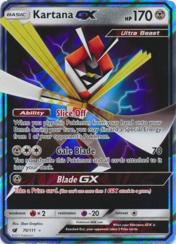 Crimson Invasion Kartana GX 70//111 Ultra Rare Card Pokemon SM