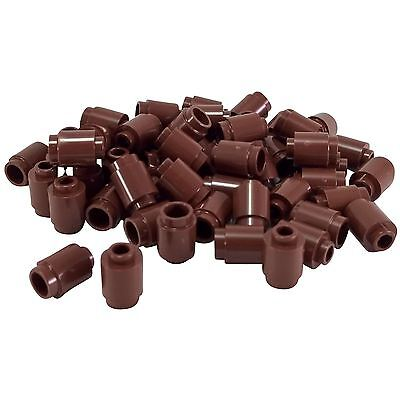 NEW LEGO  DARK BROWN 1 x 1 ROUND BRICKS x 10 OPEN STUD  PART 3062b