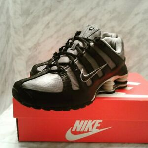 Nike-Shox-NZ-SI-PLUS-GS-Black-Dark-Grey-Youth-5Y-Womens-6-5-shoes-sneakers