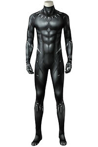 2018 Black Panther T'Challa Wakanda King Outfit Cosplay Costume Jumpsuit Suit