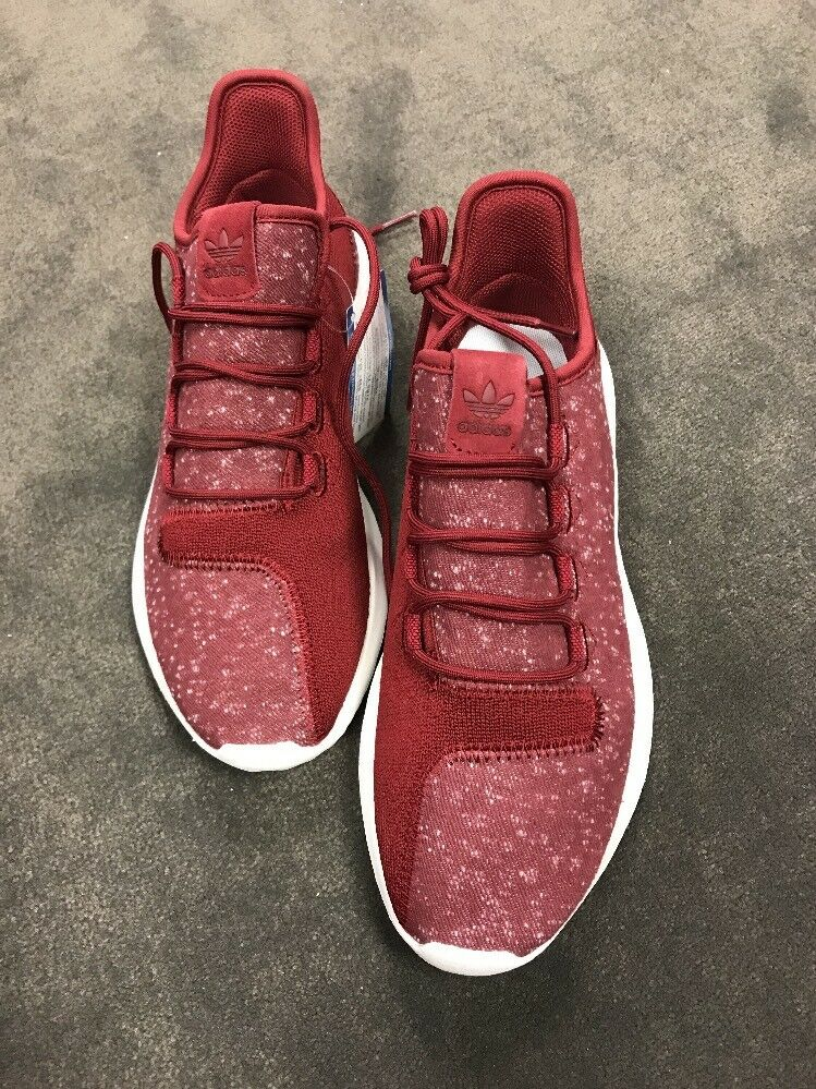 Adidas Mens Tubular Sneakers Athletic shoes Burgundy Burgandy New 8.5