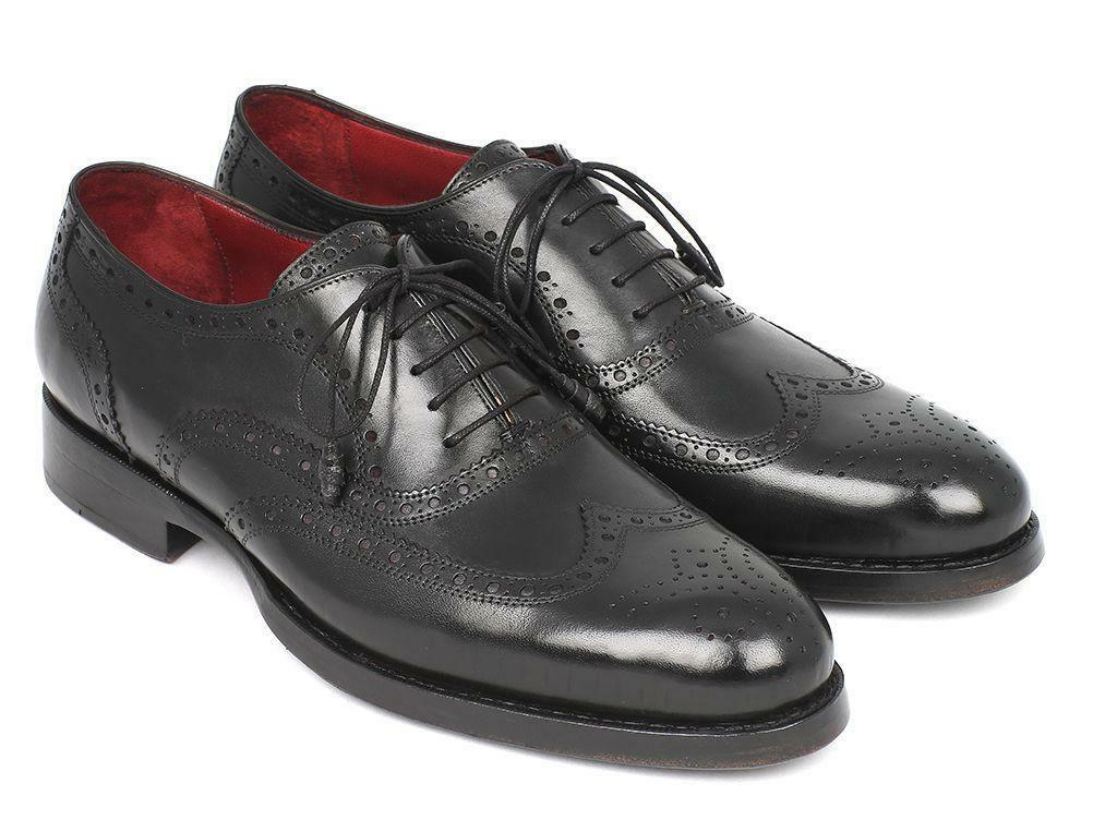 Paul Parkman Wingtip Oxford Goodyear Welted nero (ID 027-BLK)