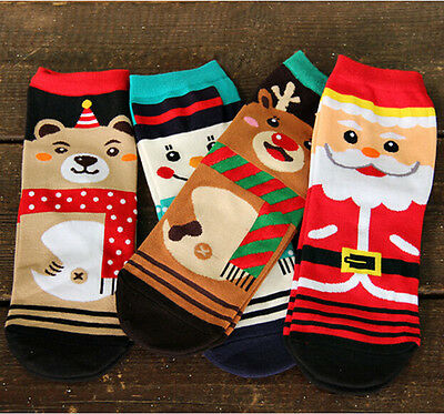 1Pair Fashion Women's Christmas series Cotton Socks Xmas Beauty Cute Socks EY
