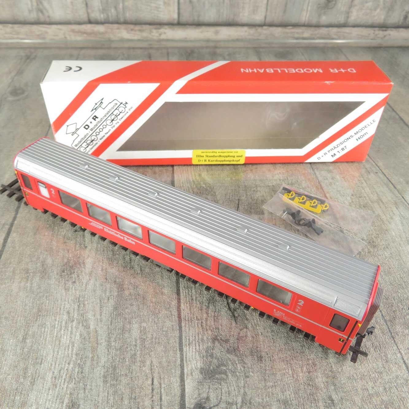 D+R Modellbahn 22392 - H0m - Personenwagen - RhB - 2.Kl. - OVP -  K15532