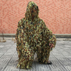3D-Camo-Ghillie-Suit-Lightweight-Camouflage-Hunting-Clothing-Jacket-amp-Pant-Sets