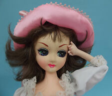 "Vintage Cloth Bradley PINKIE POSE DOLL Big Anime Eyes Southern Dress Hat 19"""